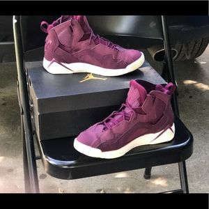 Jordan True Flights in Maroon